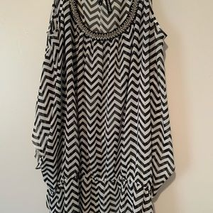 Maurices Sheer Chevron Top